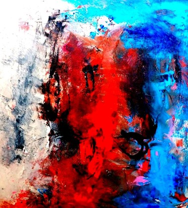 A Blue Day Mixed Media